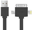 USAMS Cable 3 in 1 (iPhone 5S/ 4S/ Samsung S4)