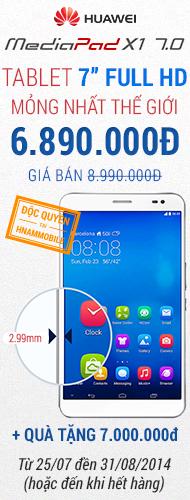 Left Huawei X1