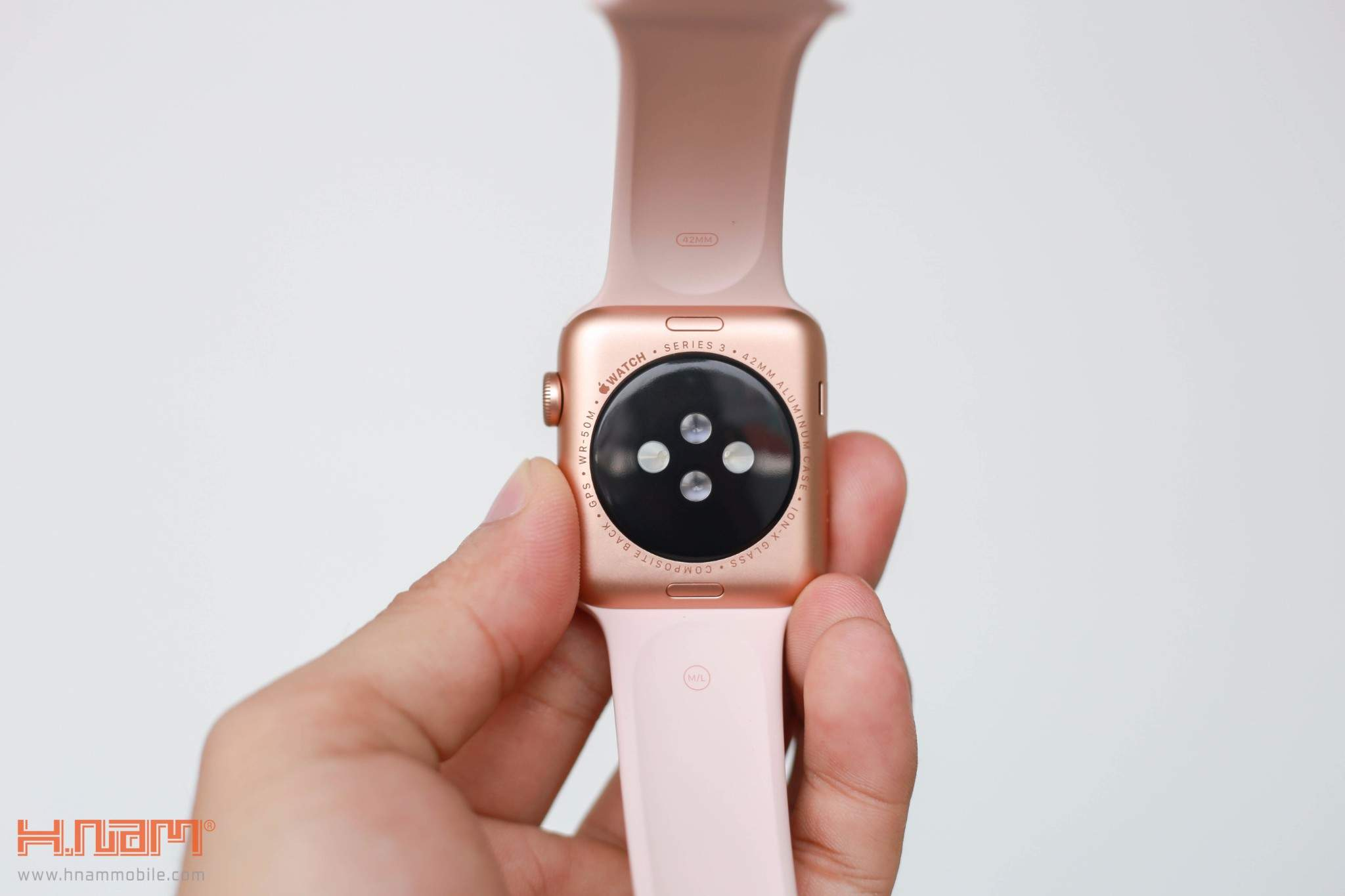 Apple Watch Series 3 42mm Gray Aluminum Case with Anthracite/Black Nike Sport Band MQL42 hình sản phẩm 1