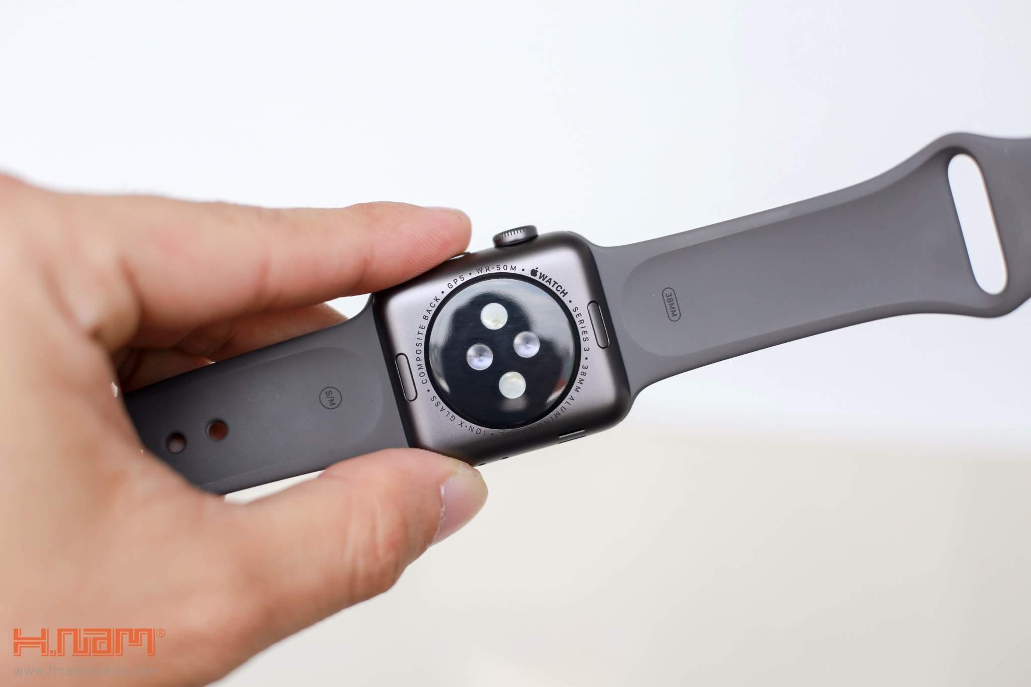 Apple Watch Series 3 Cellular 38mm Silver Aluminum Case - MQJN2 ( Trôi bảo hành , chưa Active ) hình sản phẩm 3