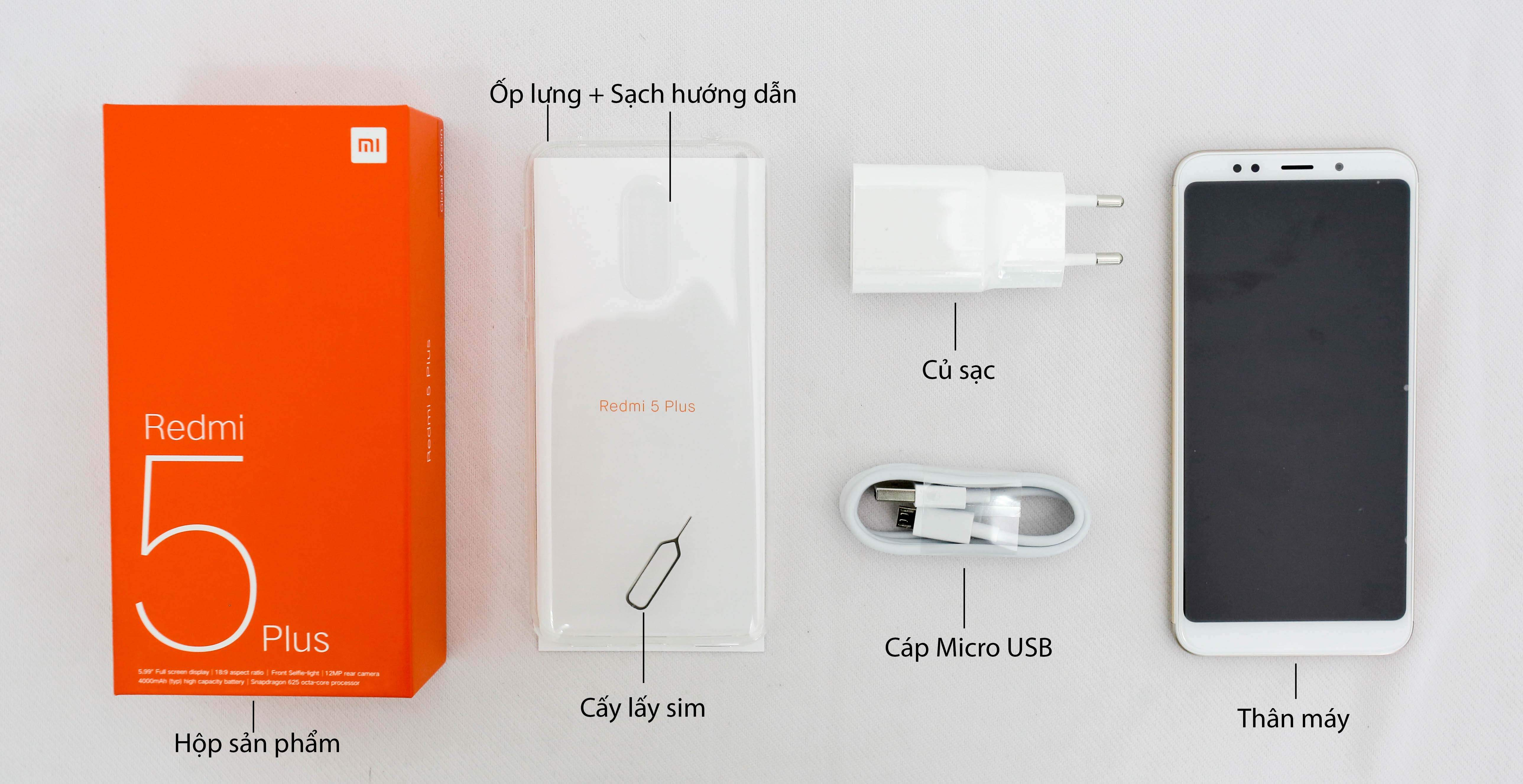 Xiaomi Redmi 5 Plus 32Gb Ram 3Gb hình sản phẩm 0