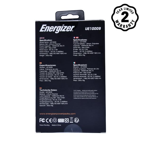 Pin dự phòng Energizer UE10009DB 10000mAh hình 6