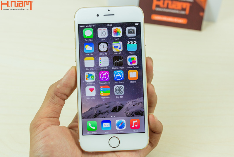 Khui hộp iPhone 6 128Gb Gold tại Hnam Mobile