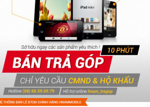 Mua trả góp Apple iPhone 5, iPhone 4S, New iPad, iPad Mini tại Hnam Mobile