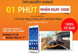 Trải nghiệm Huawei - Nhận 300,000đ cùng phụ kiện độc