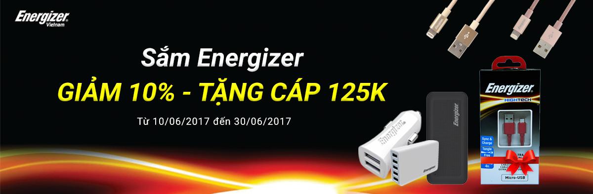 Energizer ưu đãi giảm 10%