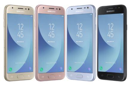 Dòng điện thoại Samsung J với các màu thời trang
